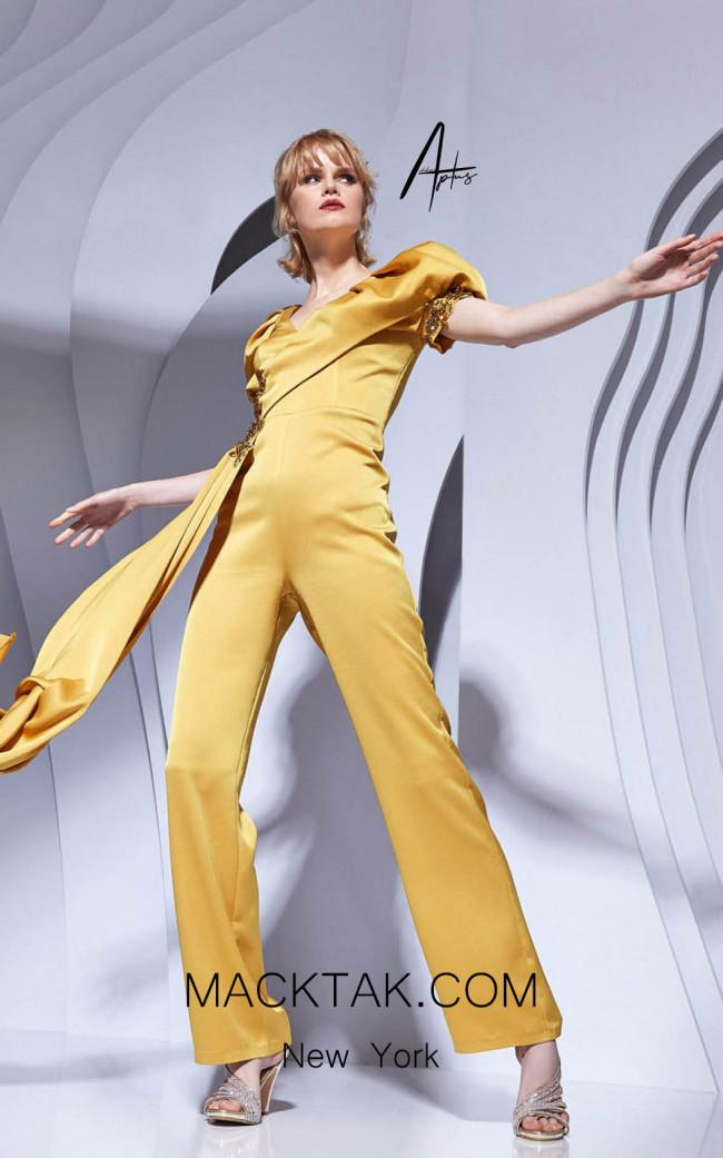 Alchera Y0607 Banana Yellow Front Dress