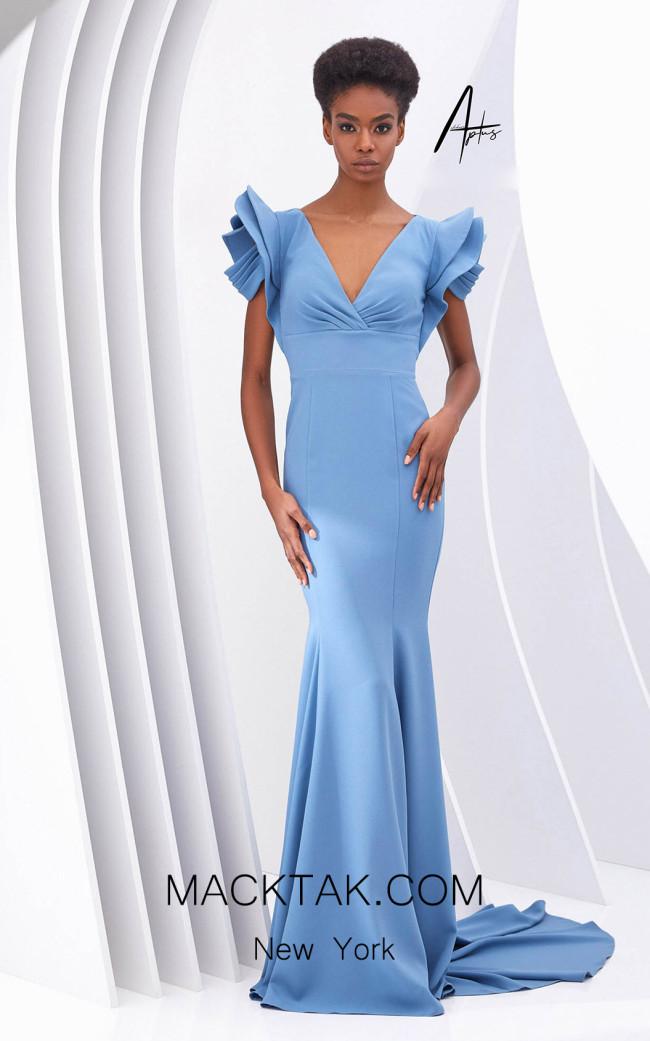 Alchera Y0611 Blue Front Dress