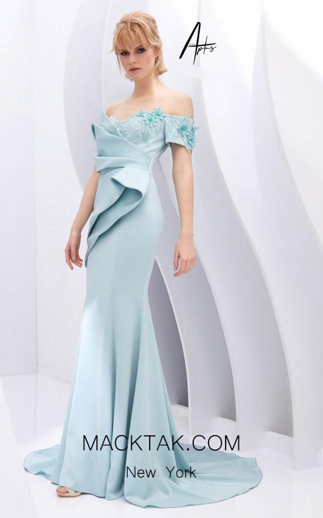 Alchera Y0614 Petrol Green Front Dress