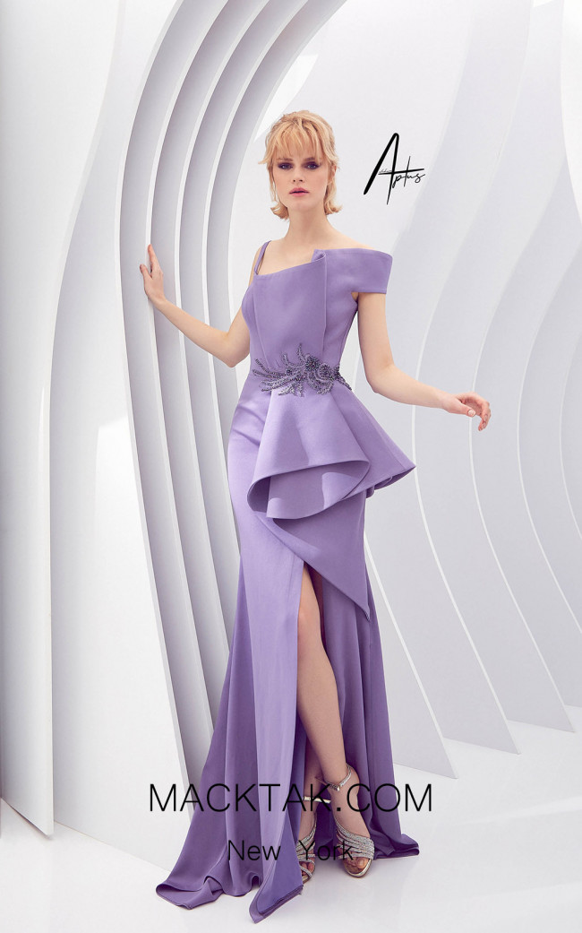 Alchera Y0615 Lilac Front Dress