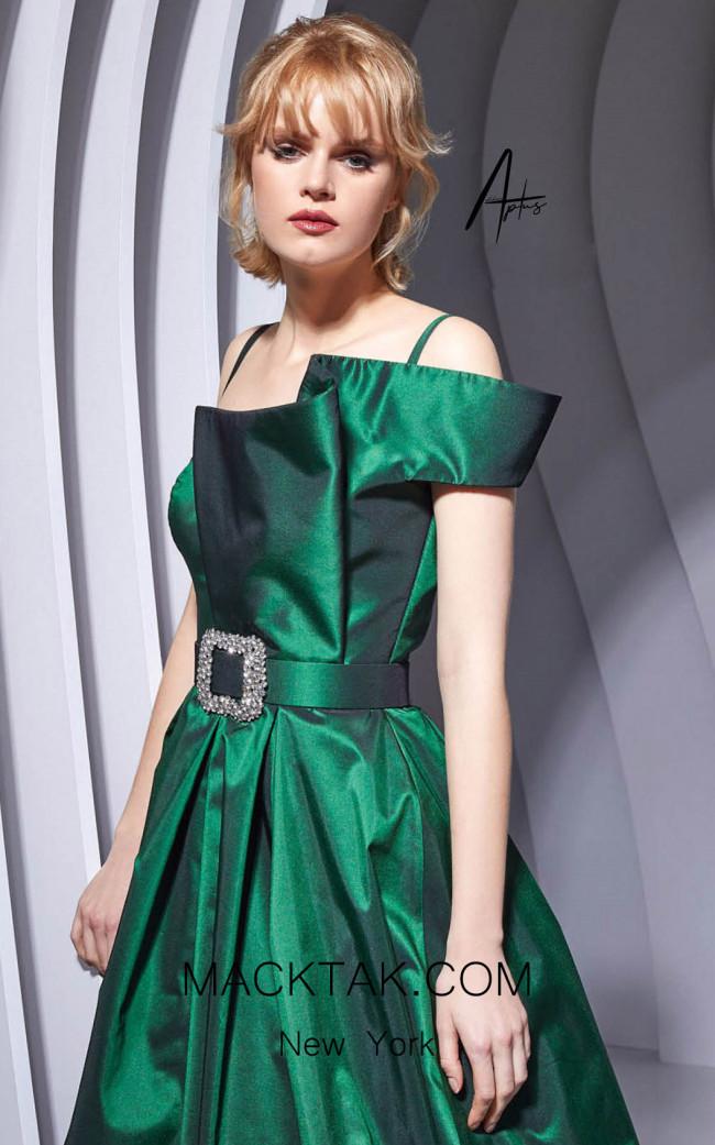 Alchera Y0617 Green Front Dress