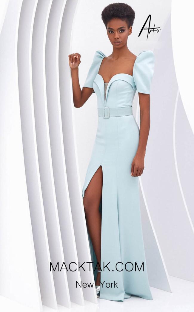 Alchera Y0634 Parliament Blue Front Dress