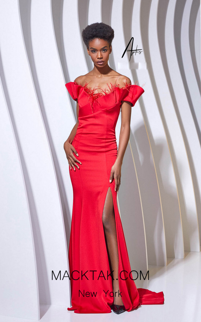 Alchera Y0658 Red Front Dress