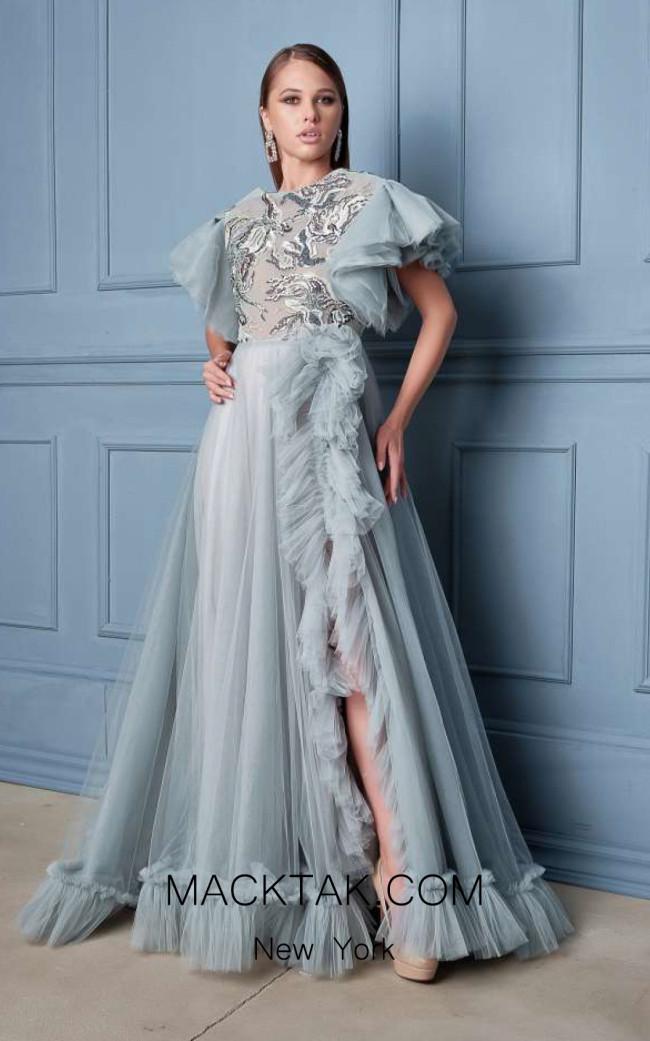Alda Ciceu NRP SS20-02 Gray Front Dress