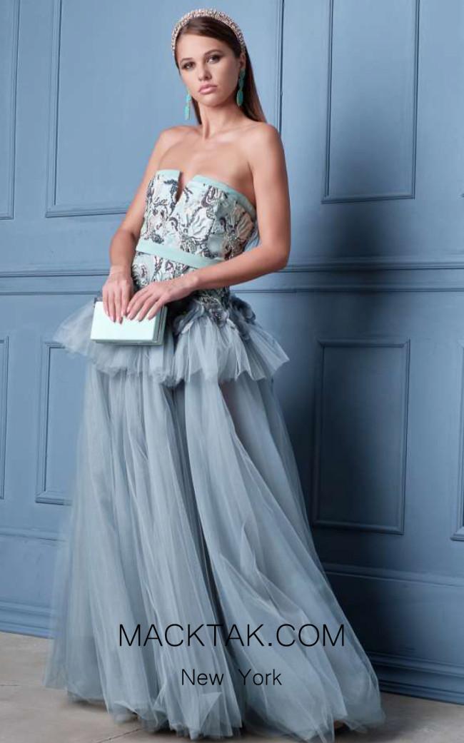 Alda Ciceu NRP SS20-03 Gray Front Dress