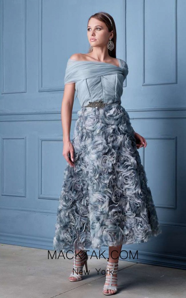 Alda Ciceu NRP SS20-08 Gray Front Dress