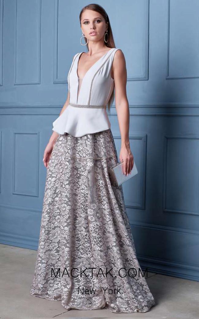 Alda Ciceu NRP SS20-10 Ivory Front Dress
