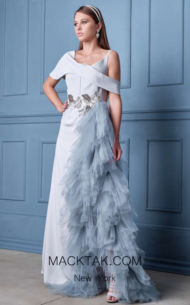 Alda Ciceu NRP SS20-11 Gray Front Dress