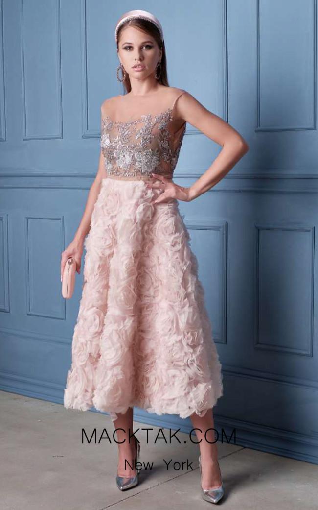 Alda Ciceu NRP SS20-17 Pink Front Dress