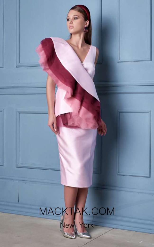 Alda Ciceu NRP SS20-18 Pink Wine Front Dress