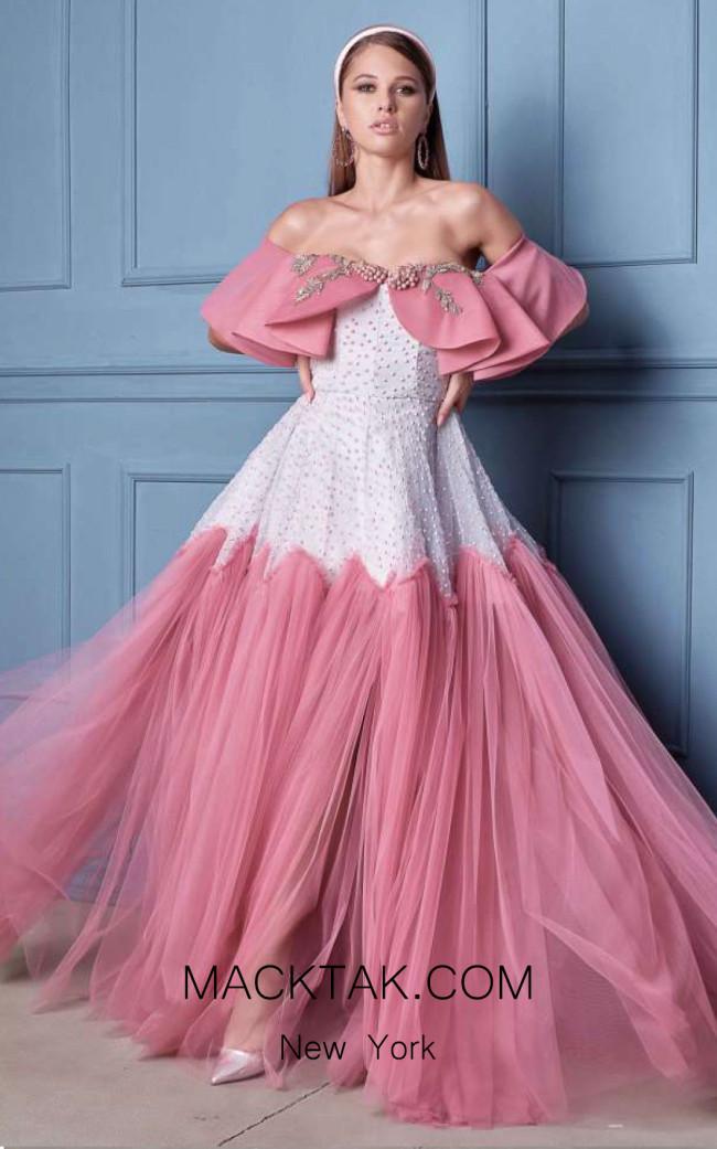 Alda Ciceu NRP SS20-20 Pink White Front Dress