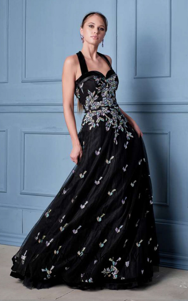 Alda Ciceu NRP SS20-28 Black Multi Front Dress