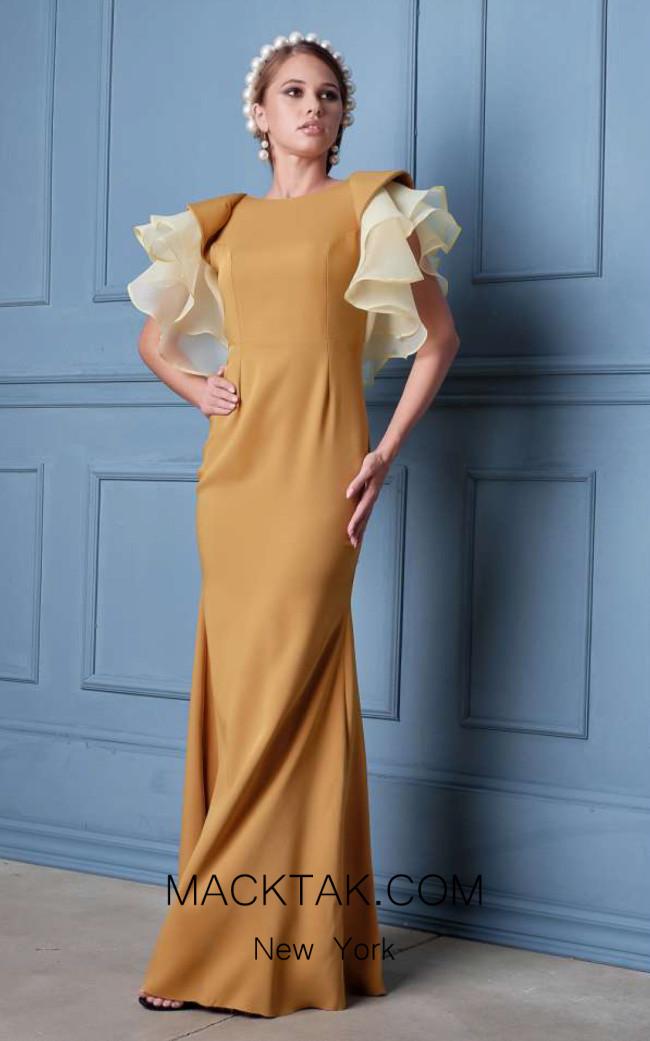 Alda Ciceu NRP SS20-34 Mustard Front Dress
