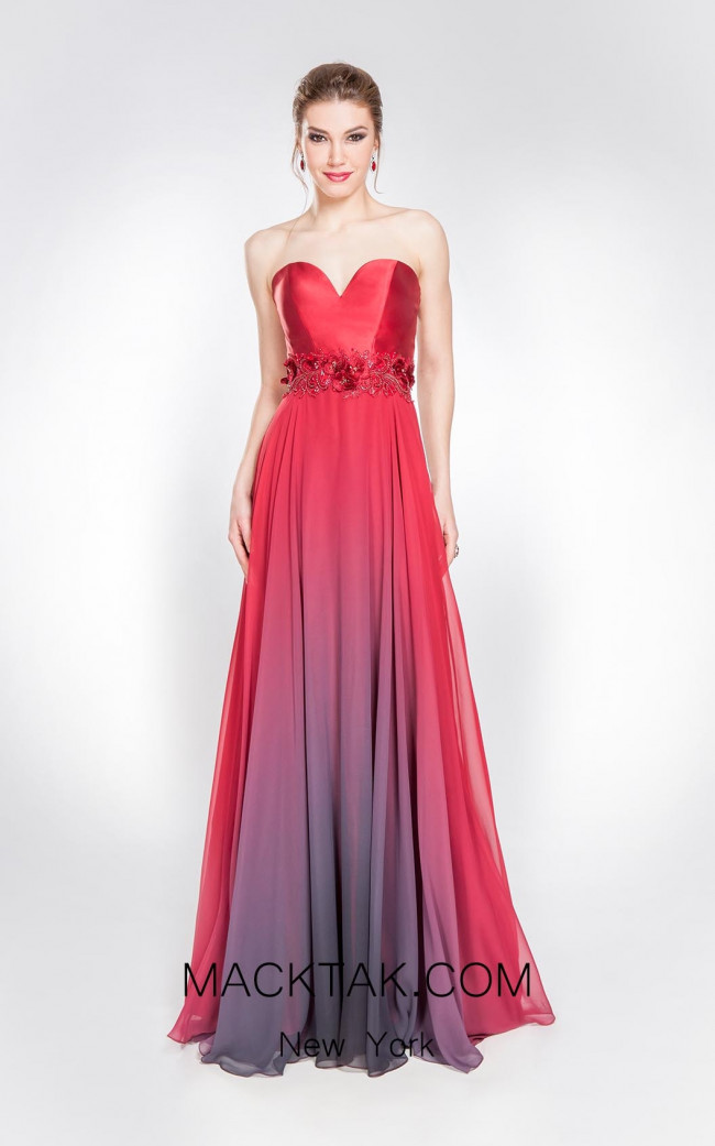 Alma Couture AC1042 Ombre Front Evening Dress