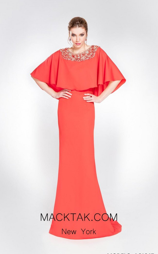Alma Couture AC1047 Front Evening Dress