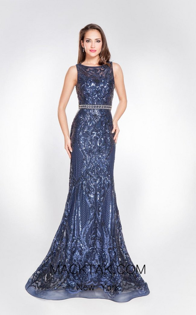 Alma Couture AC1049 Front Evening Dress