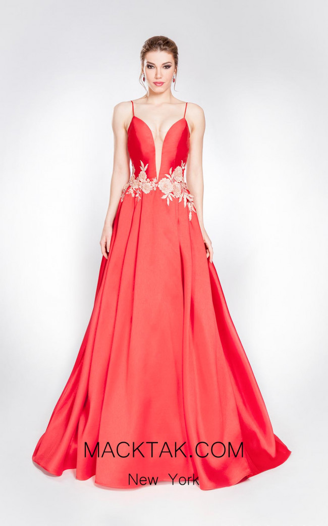 Alma Couture AC1058 Front Evening Dress