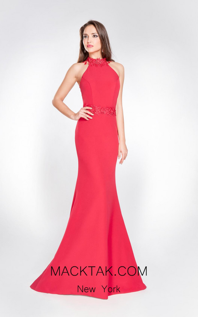 Alma Couture AC1063 Front Evening Dress