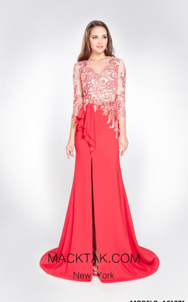 Alma Couture AC1071 Front Evening Dress