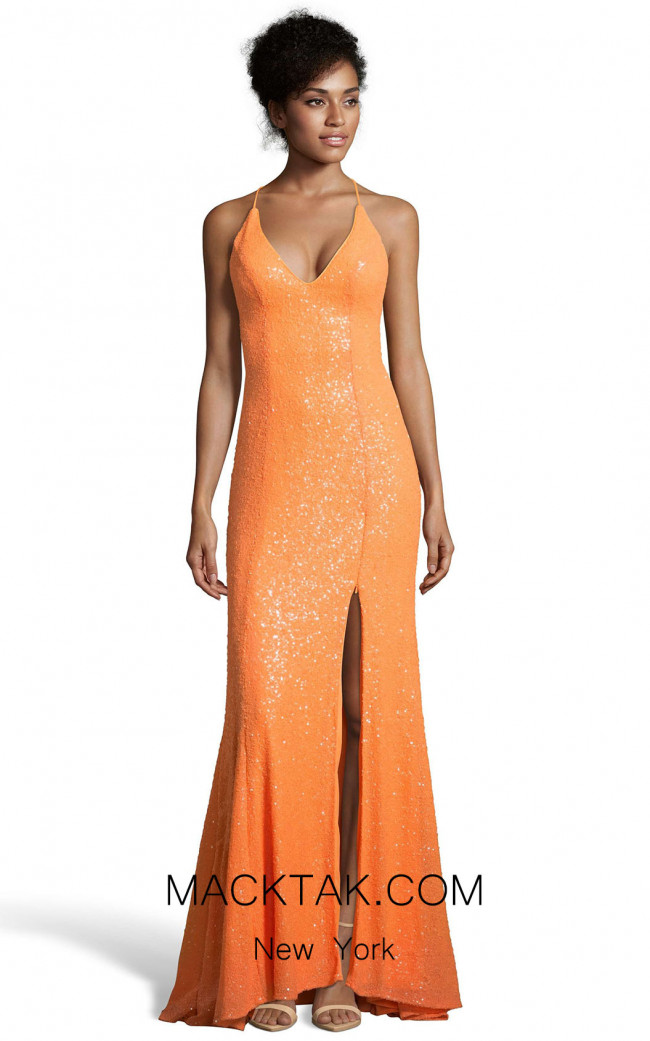 Alyce 60823 Tangerine Front Dress