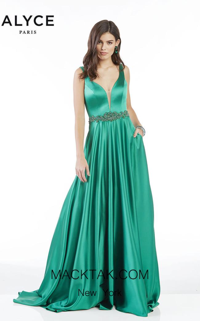 Alyce Paris 1422 Emerald Front Dress