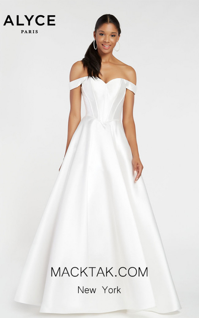 Alyce Paris 1424 Diamond White Front Dress