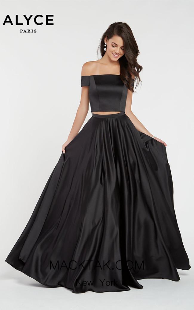 Alyce Paris 1426 Black Front Dress