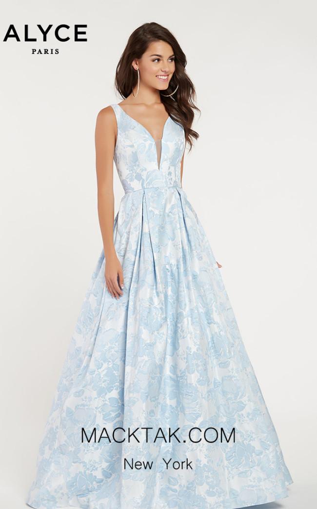 Alyce Paris 1434 Light Blue Front Dress
