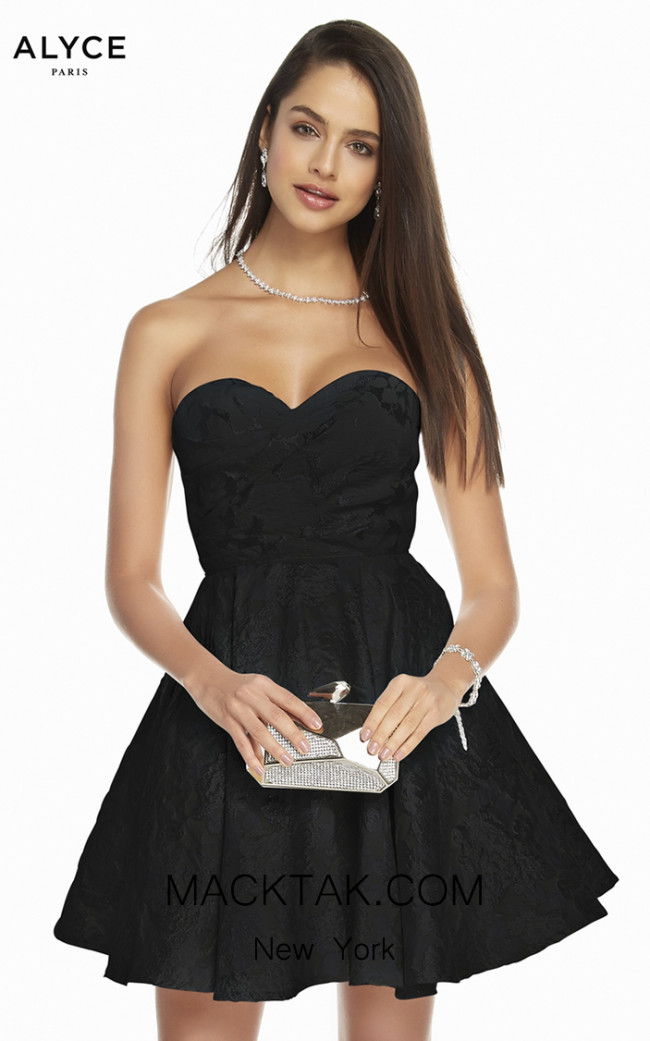 Alyce Paris 1446 Black Front Dress