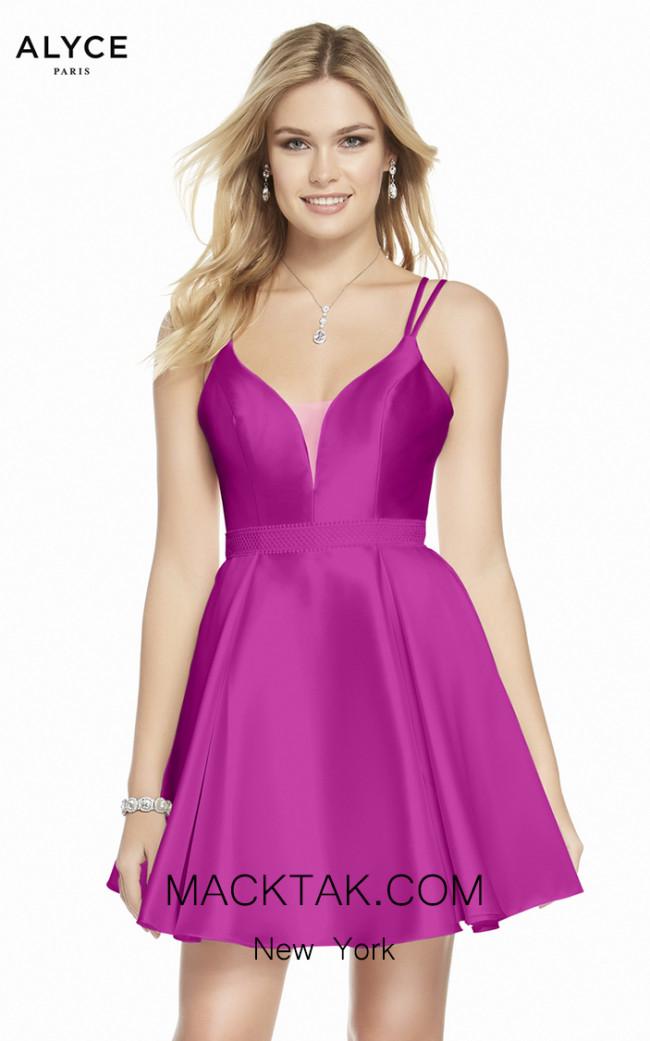 Alyce Paris 1453 Raspberry Front Dress