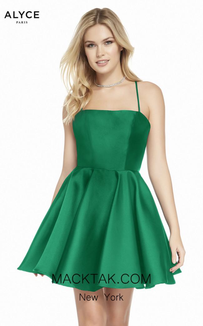Alyce Paris 1455 Emerald Front Dress