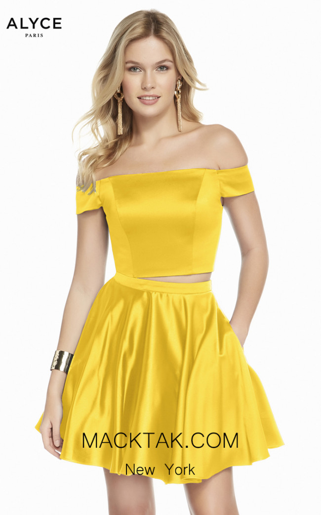 Alyce Paris 1462 Yellow Front Dress