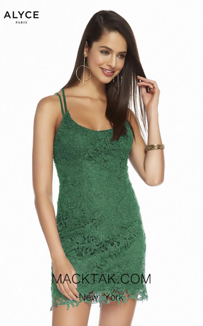 Alyce Paris 1473 Emerald Front Dress