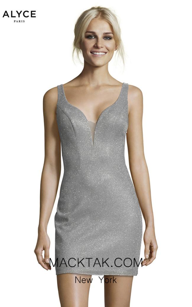 Alyce Paris 1480 Silver Front Dress