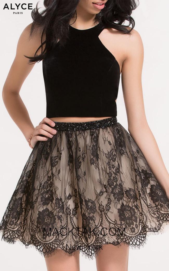 Alyce Paris 2646 Black Nude Front Dress