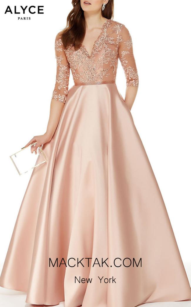 Alyce Paris 27023 Bisque Front Dress
