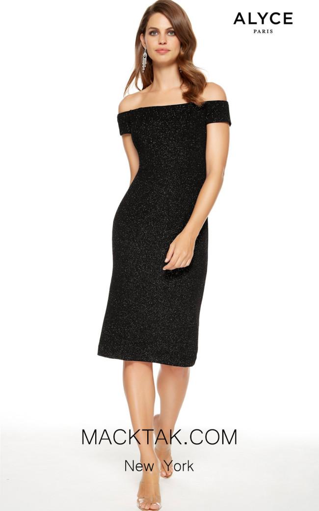 Alyce Paris 27343 Black Front Dress