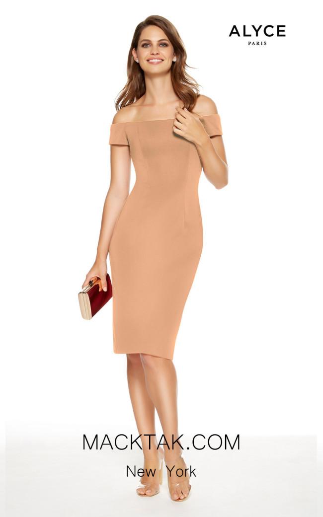 Alyce Paris 27347 Dusty Rose Front Dress