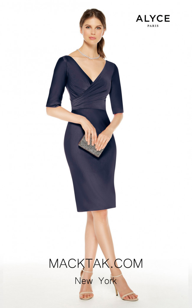 Alyce Paris 27348 Navy Front Dress