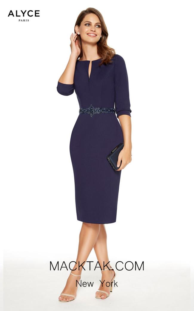 Alyce Paris 27349 Navy Front Dress