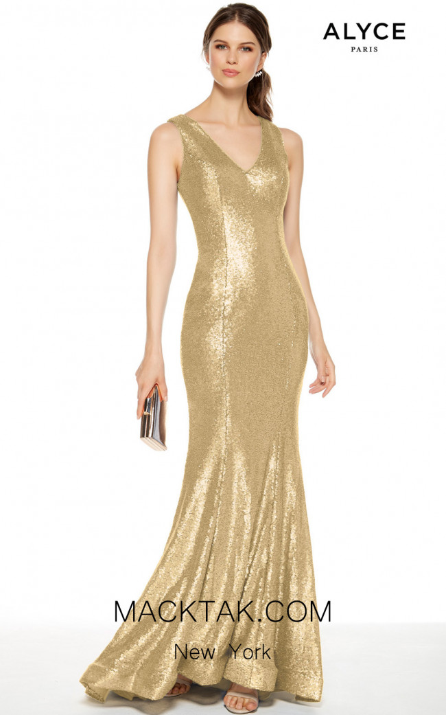 Alyce Paris 27356 Champagne Front Dress