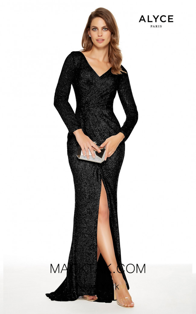 Alyce Paris 27359 Black Front Dress
