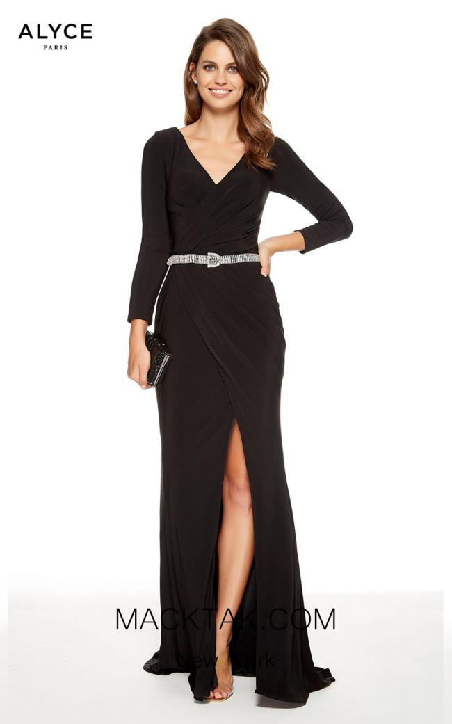 Alyce Paris 27360 Black Front Dress