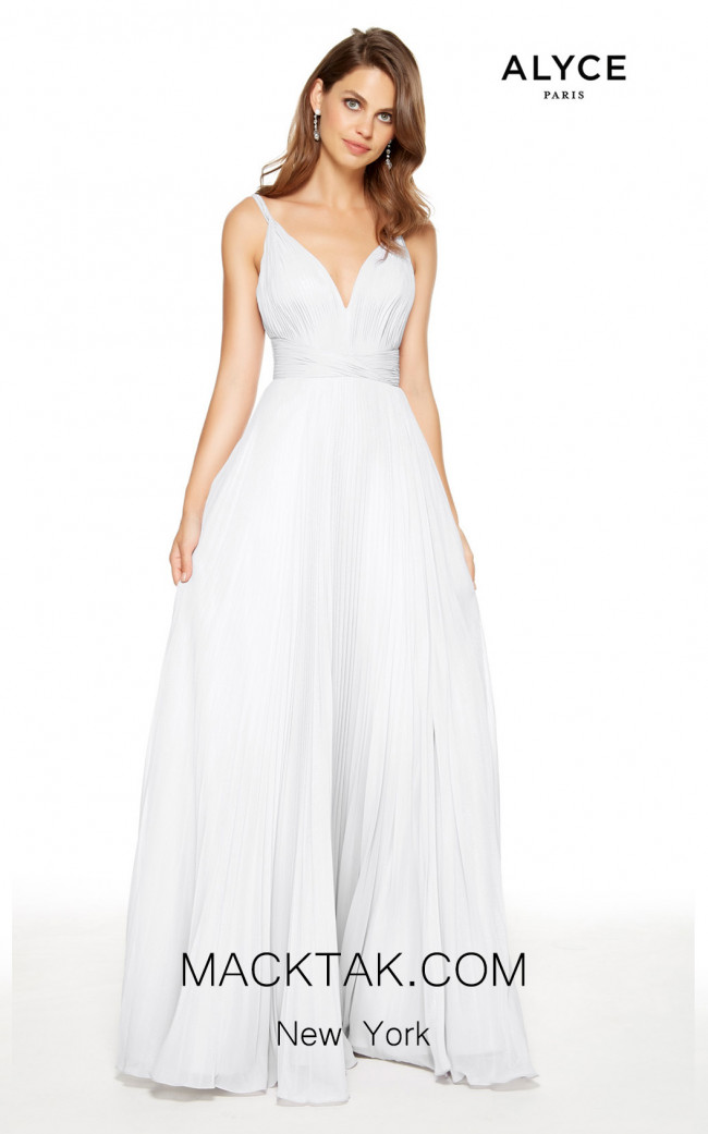 Alyce Paris 27361 Diamond White Front Dress