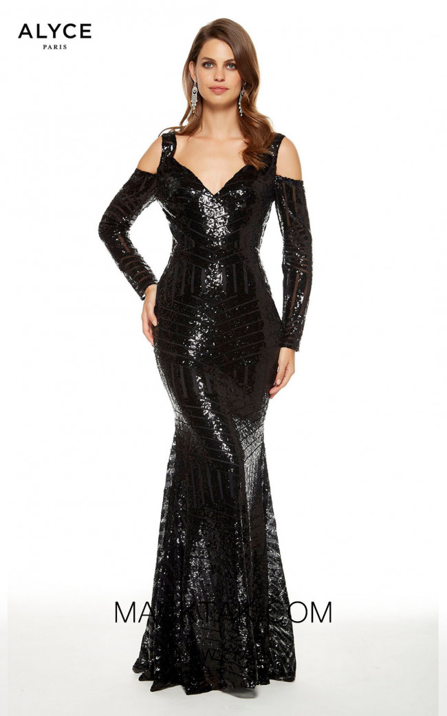 Alyce Paris 27365 Black Front Dress