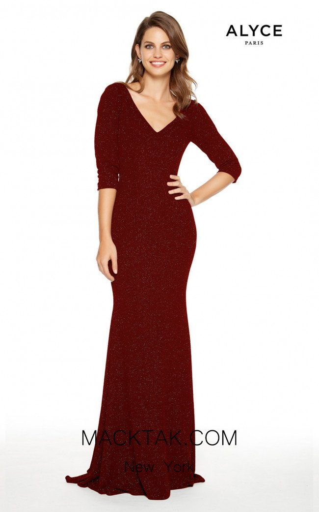 Alyce Paris 27377 Wine Front Dress
