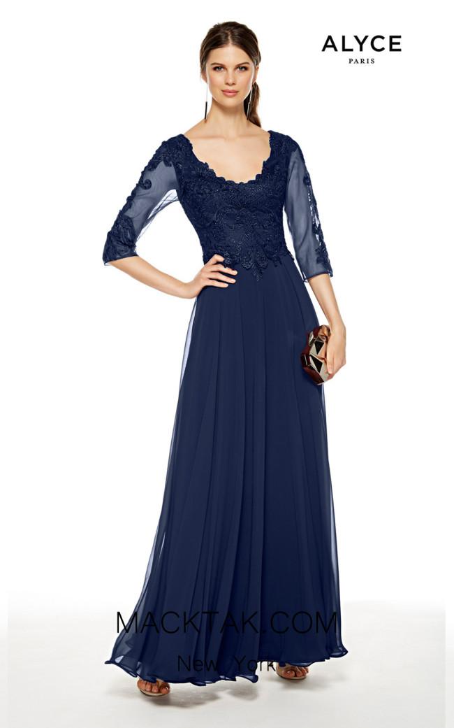 Alyce Paris 27385 Navy Front Dress