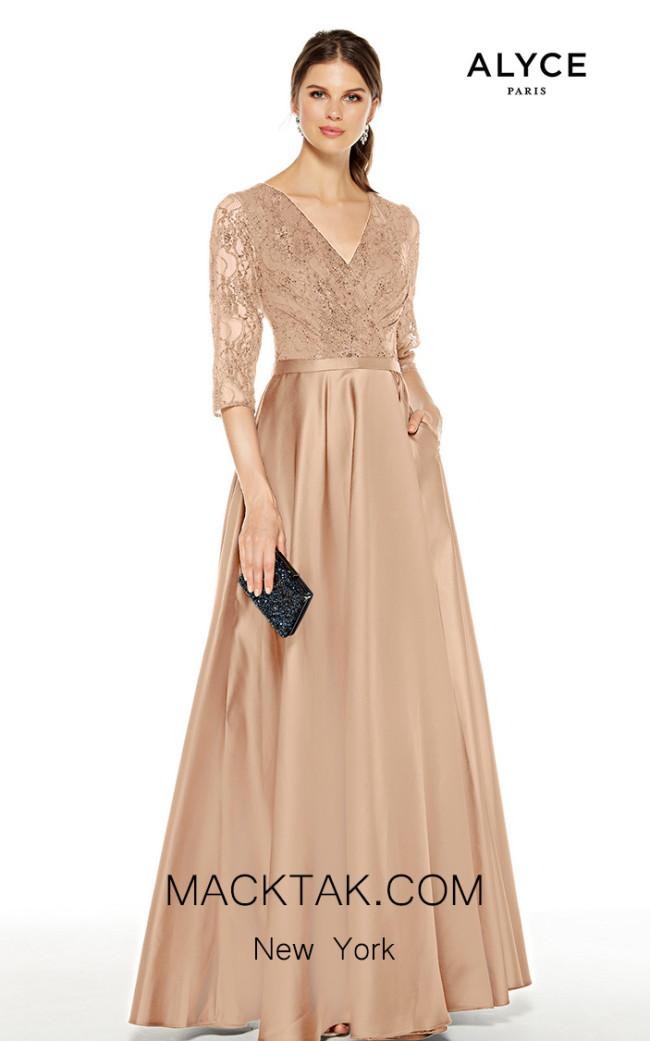 Alyce Paris 27387 Rose Gold Front Dress