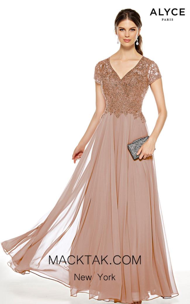 Alyce Paris 27389 Cashmere Rose Front Dress