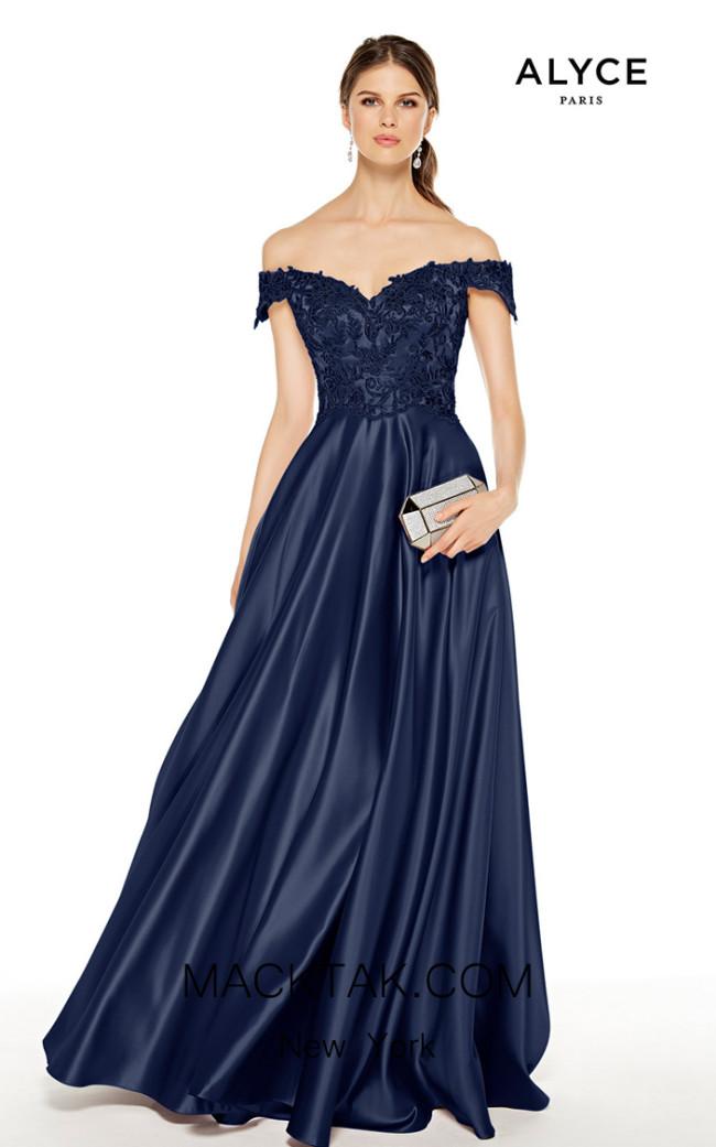 Alyce Paris 27393 Navy Front Dress